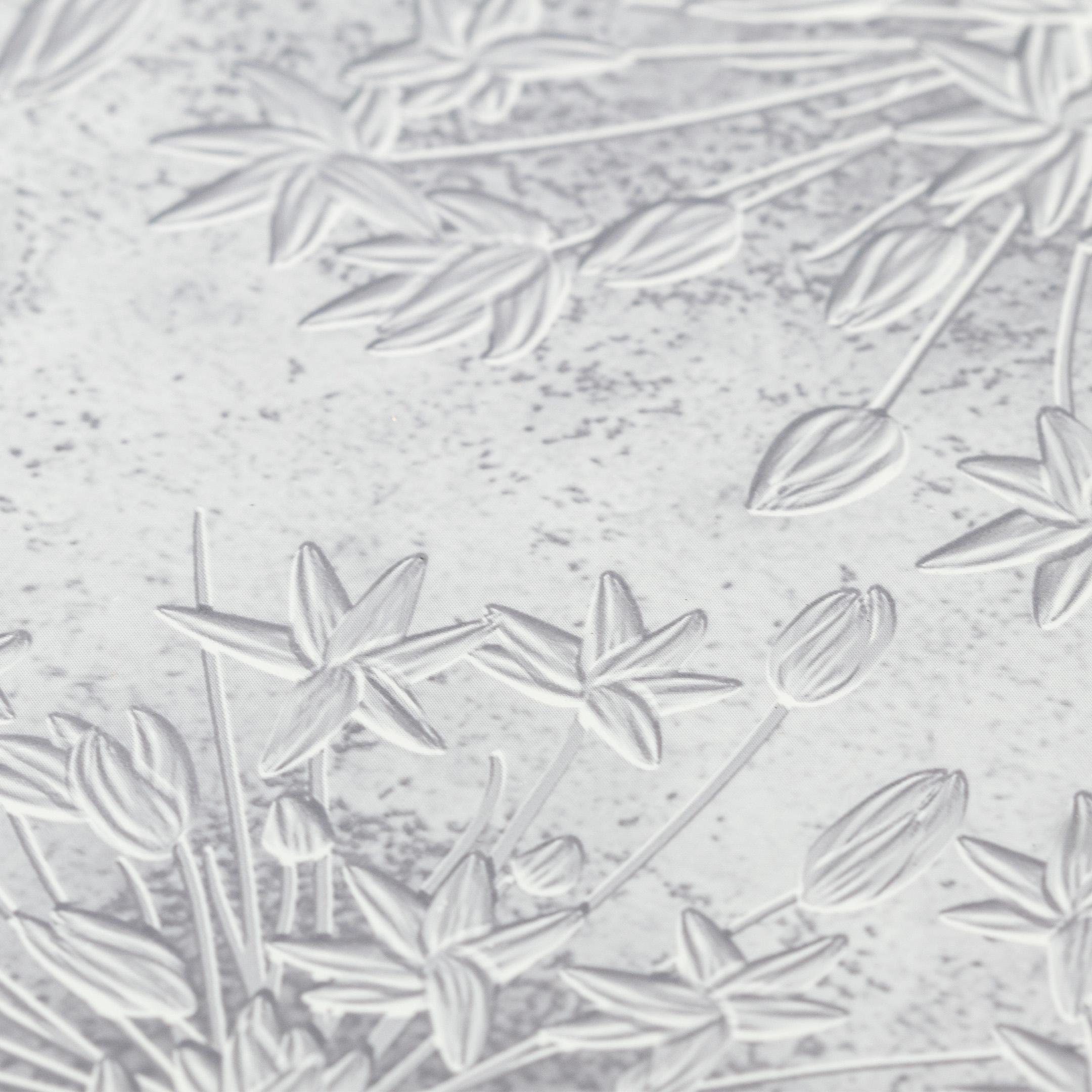 Панель ПВХ 250х2700х8 мм Центурион Нежность серо-сиреневая узор фото