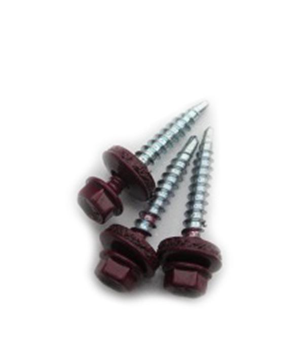 Купить Саморезы кровельные с буром красное вино RAL 3005 35х4.8 мм (250 шт), Красное вино