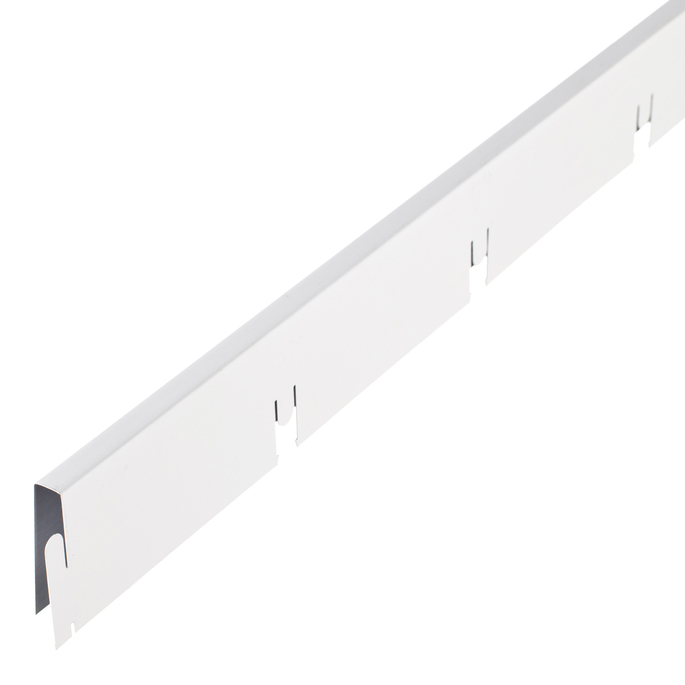 Элемент решетки белый матовый «мама» 10х40х600 мм Грильято ячейка 100х100 мм