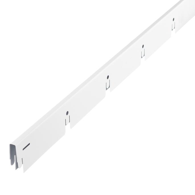 Рейка направляющая 2,40 м Грильято белая матовая 100х100 мм
