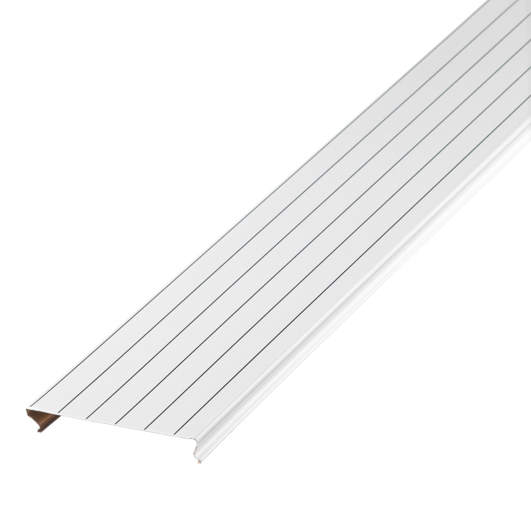 Фото - Рейка сплошная S-дизайн 3 м A100AS белый жемчуг с металл.полосой рейка сплошная омега а 3 м 100ат эконом белая
