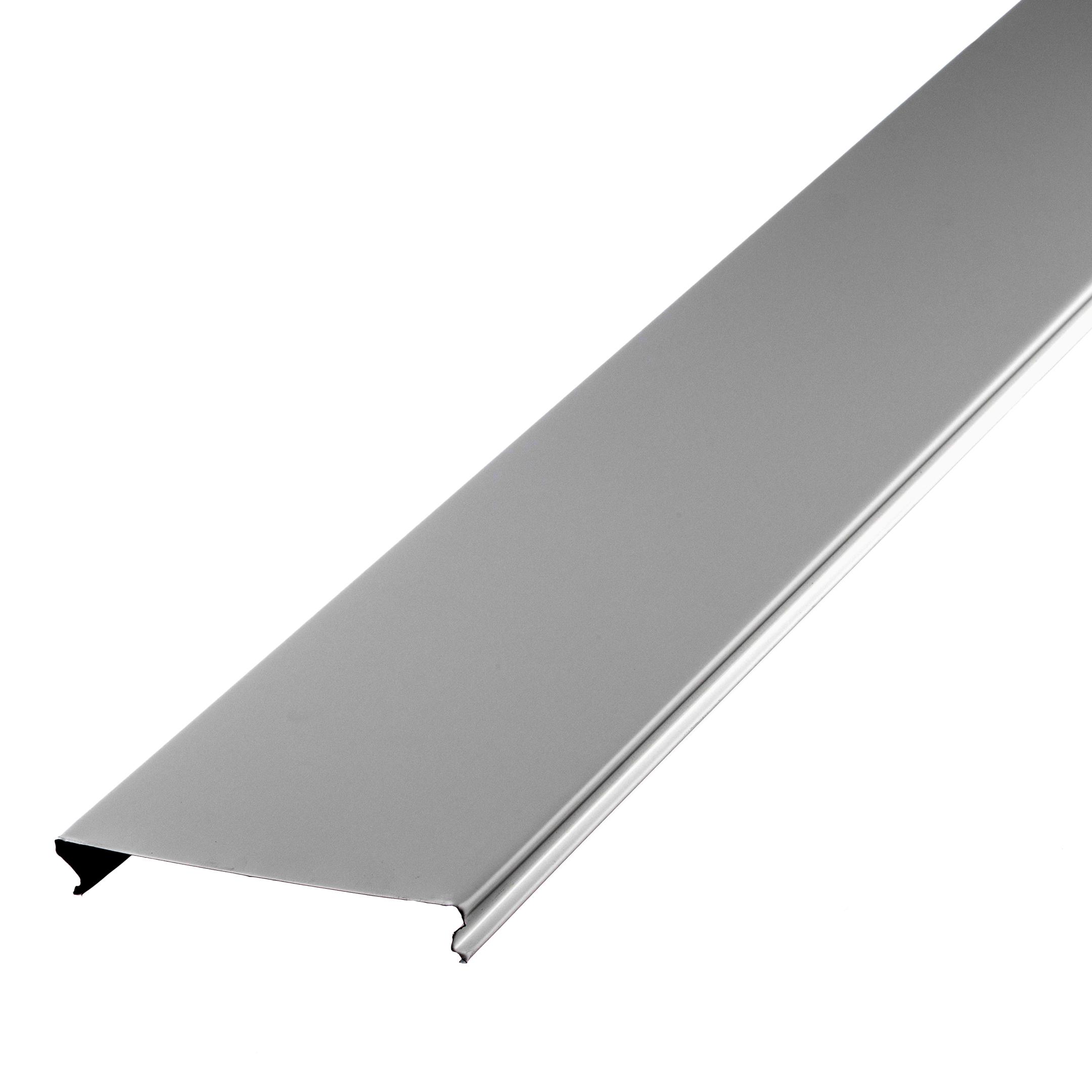 Рейка сплошная S-дизайн 3 м 100AS Эконом белая стоимость