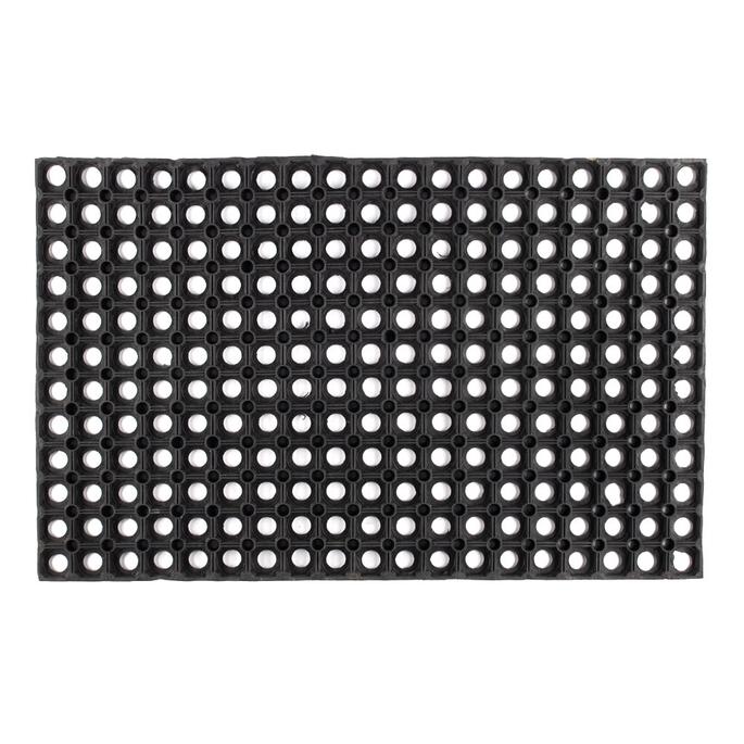 Коврик придверный резиновый черный 80х50 см