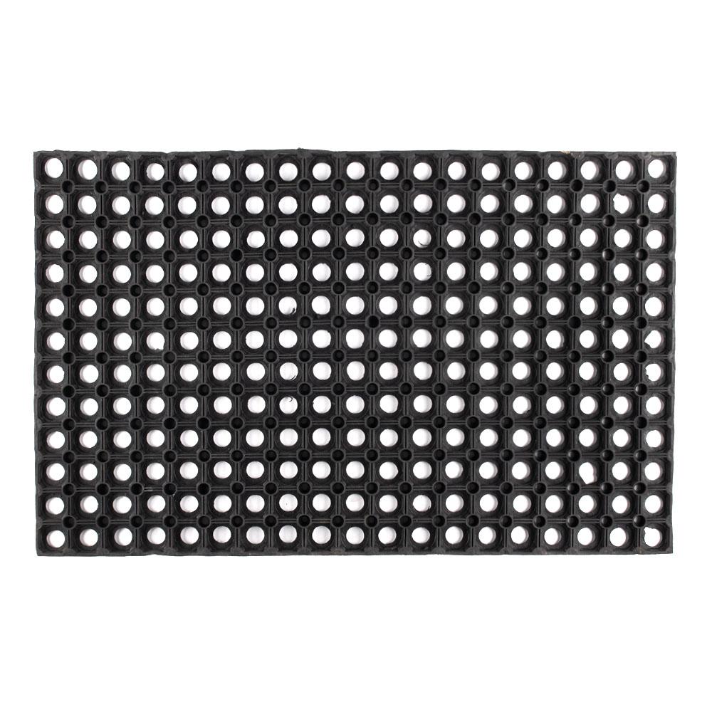 Коврик придверный резиновый черный 80х50 см 16 мм