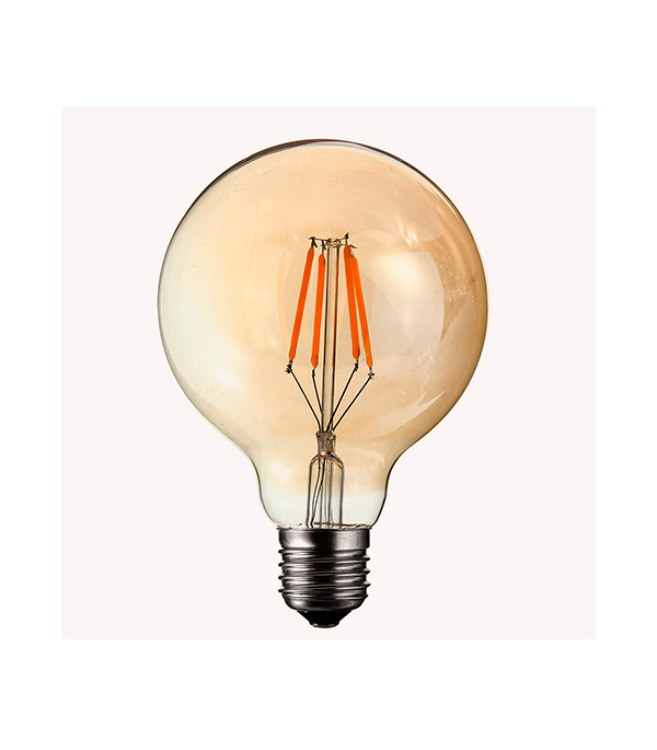 купить Лампа светодиодная REV филаментная E27 7Вт 2700K теплый свет G95 шар винтаж по цене 367 рублей