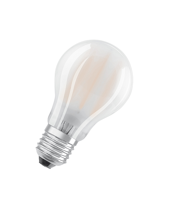 Лампа светодиодная филоментная 6,5W Е27 груша 4000К холодный свет матовая димируемая Osram osram hql 125w е27