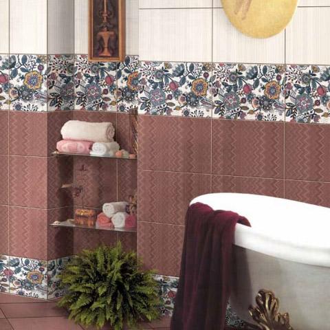 Плитка декор Евро-Керамика Римини песочный 400x270x8 мм фото