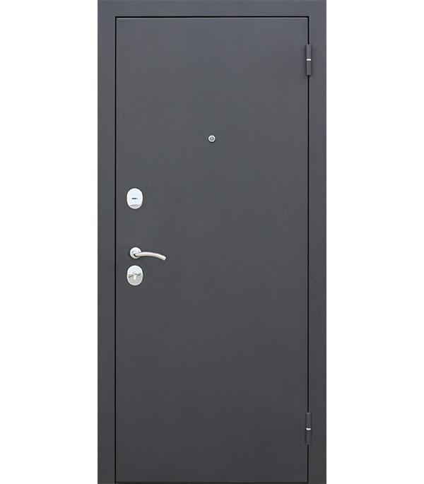 Дверь входная Garda правая черный муар - лиственница мокко со стеклом 960х2050 мм фото