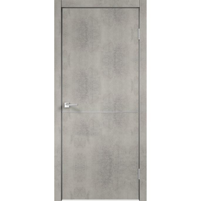 Дверное полотно VellDoris TECHNO М1 муар светло-серый глухое экошпон 600x2000 мм