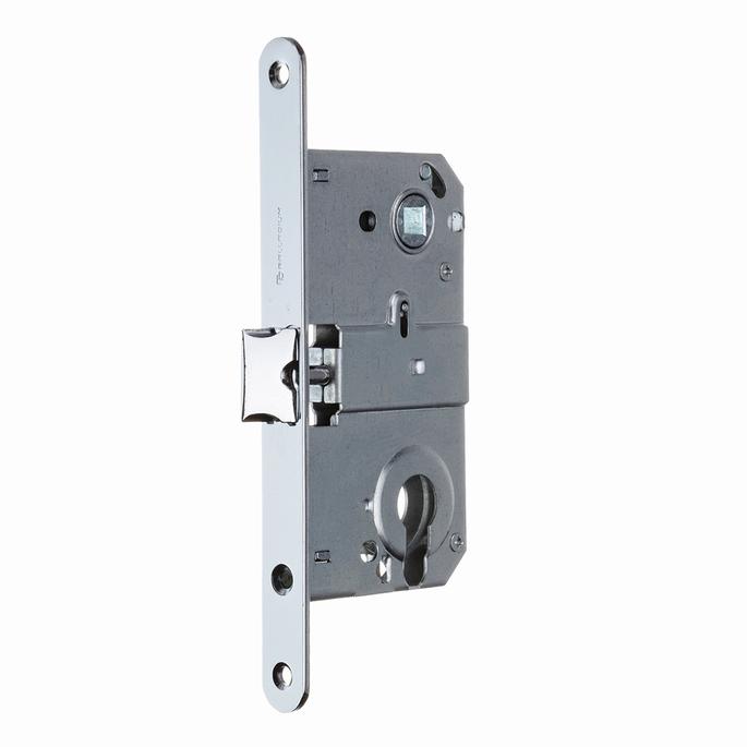 Замок врезной Palladium 385 CP для межкомнатной двери под цилиндр (хром)
