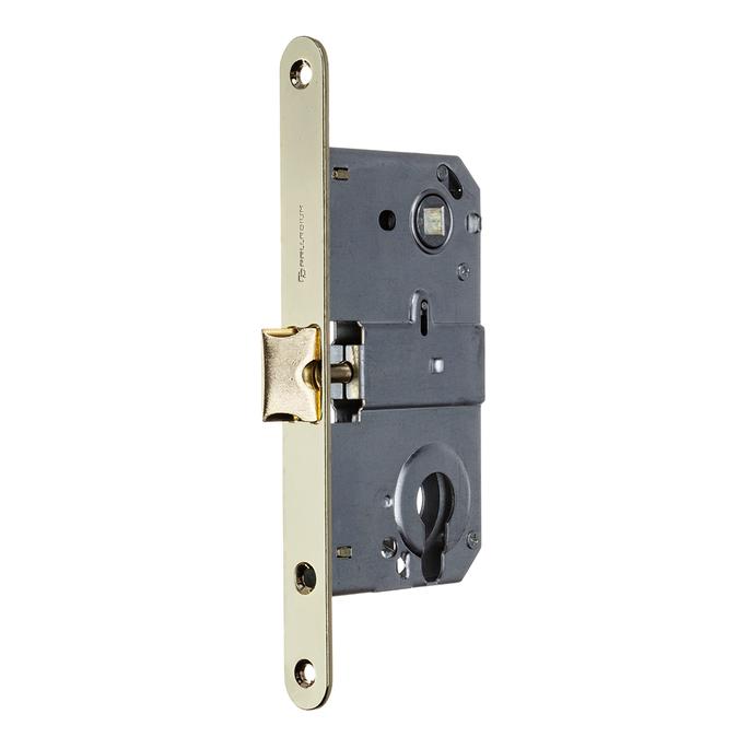 Замок врезной Palladium 385 PB для межкомнатной двери под цилиндр (латунь)