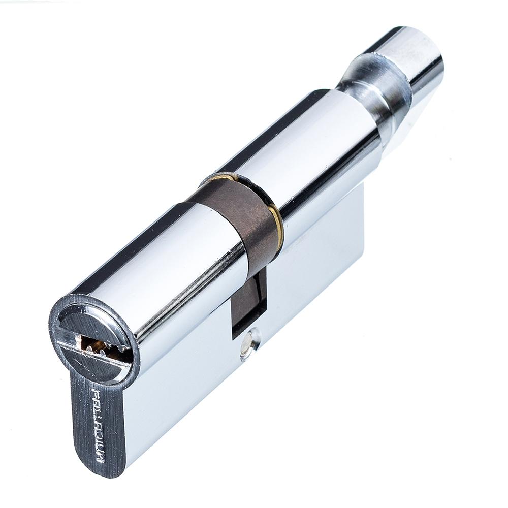 цена на Цилиндр Palladium 70 C BK CP 70 (35х35) мм ключ-вертушка хром