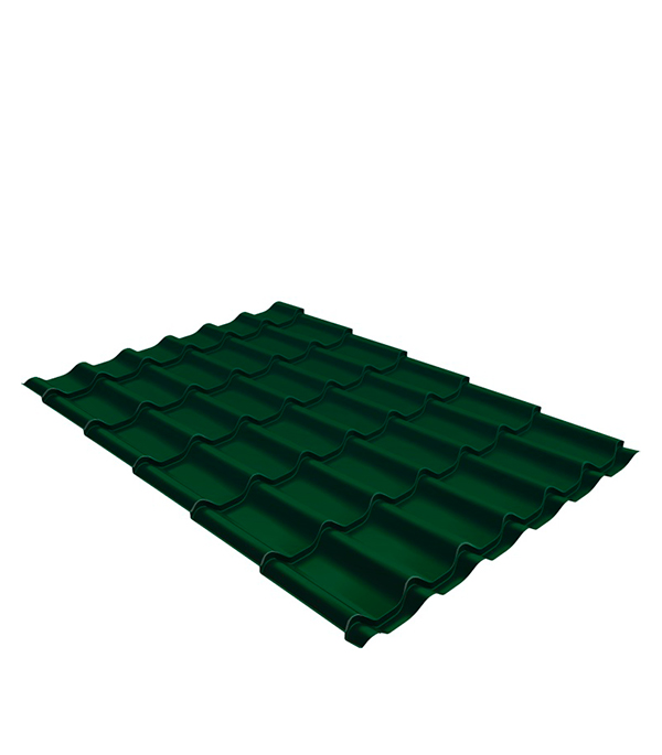 Металлочерепица 1,18х0,45 м толщина 0,5 мм Satin зеленая RAL 6005 планка торцевая для металлочерепицы 80х100 мм 2м зеленая ral 6005
