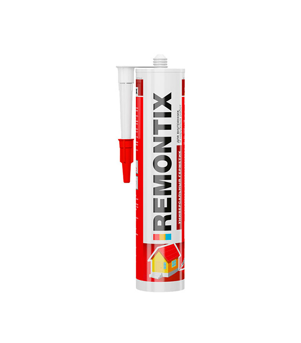 цена на Герметик силиконовый Remontix U универсальный 310 мл белый