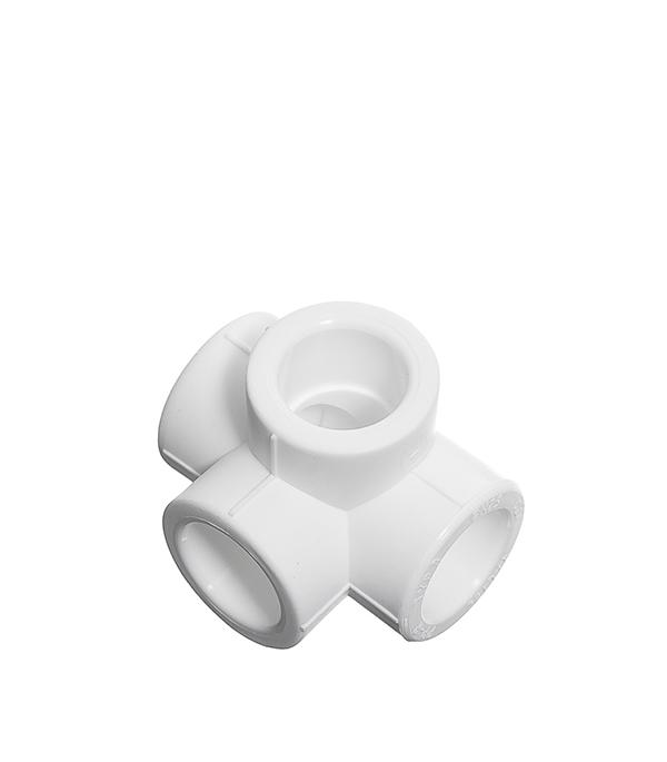 Крестовина полипропиленовая двухплоскостная 20 мм Valtec крестовина двухплоскостная sk plast левая 90 градусов 110х110х50