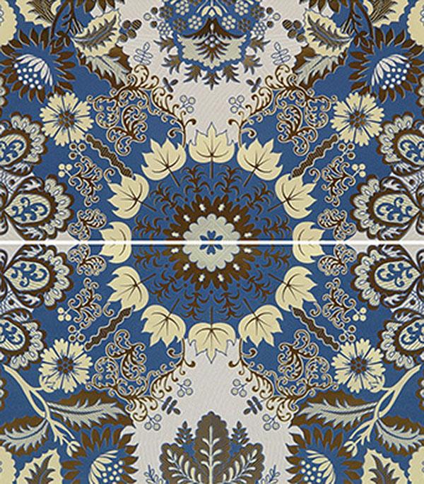 Плитка панно 500х600х8 мм Эрантис 01 синий (2шт в комплекте) декор gracia ceramica itaka beige decor 01 30x50