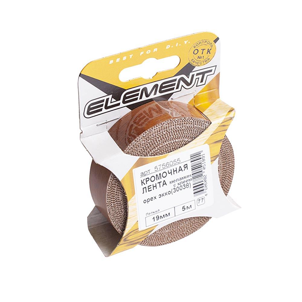Лента кромочная 19 мм меламин с клеем орех экко (30038) (5 м)