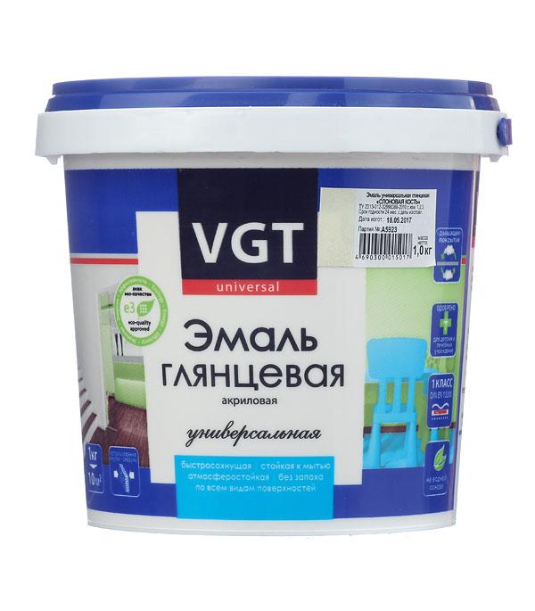 Эмаль акриловая глянцевая слоновая кость VGT 1 кг эмаль акриловая матовая синяя vgt 1 кг