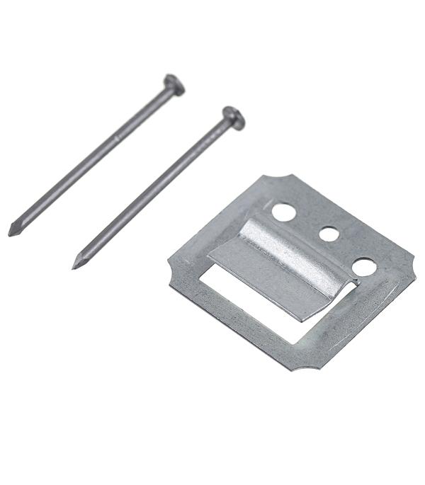 Крепеж кляймер №1 с гвоздями для панелей (100 шт.)