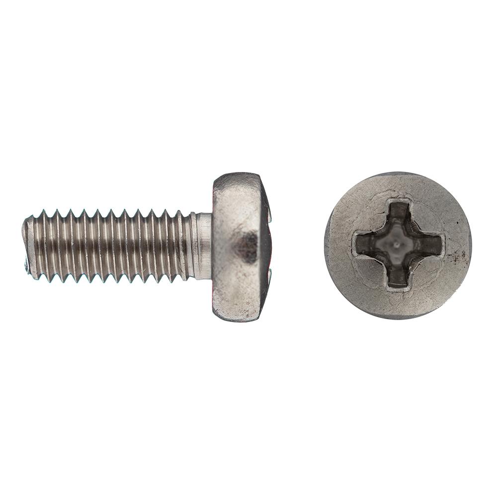 Винт нержавеющая сталь M4x10 мм DIN 7985 полукруглая головка (14 шт.)