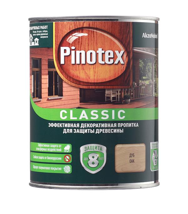 Декоративно-защитная пропитка для древесины Pinotex Classic дуб 1 л