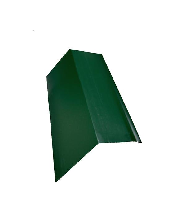 Планка карнизная для металлочерепицы 50х100 мм 2м зеленая RAL 6005 конек для металлочерепицы плоский с пазом 135х35х60х35х135 мм 2 м зеленый ral 6005
