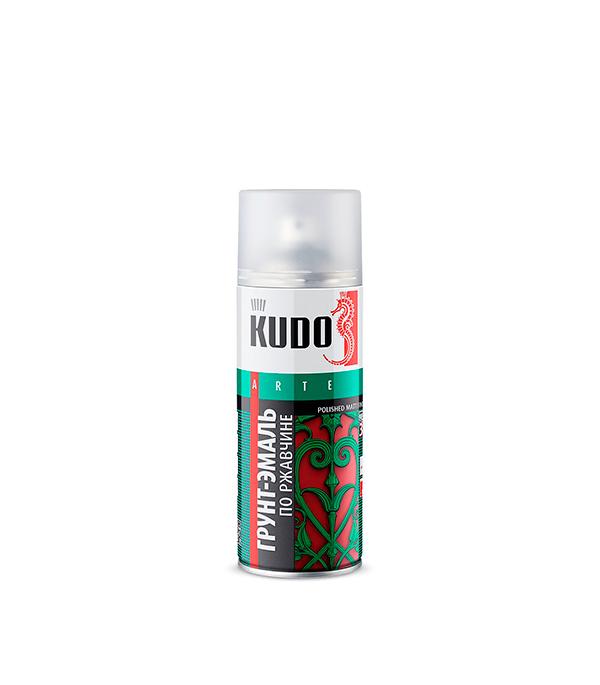 цены Грунт-эмаль по ржавчине Kudo RAL 9005 черная аэрозольная 520 мл