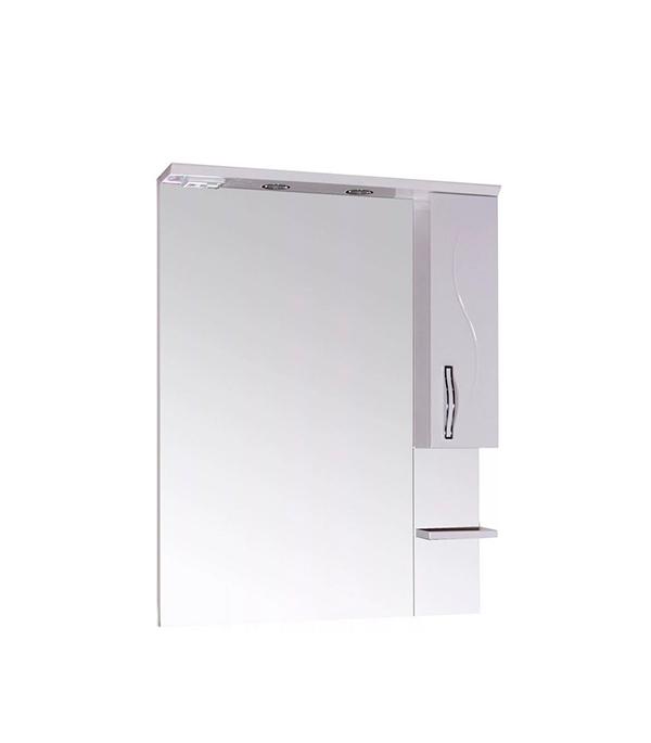 Зеркальный шкаф АСБ-Мебель Грета 600 мм с подсветкой белый