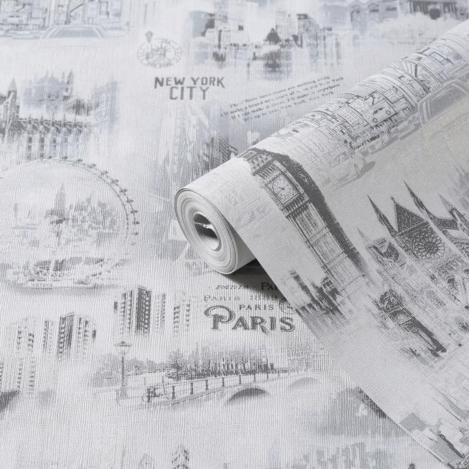 Обои бумажные Саратовские обои Moda Interio С6 Д589-06 (0,53х10 м)