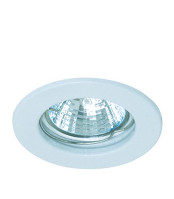 Светильник встраиваемый круглый белый MR16 GU5.3