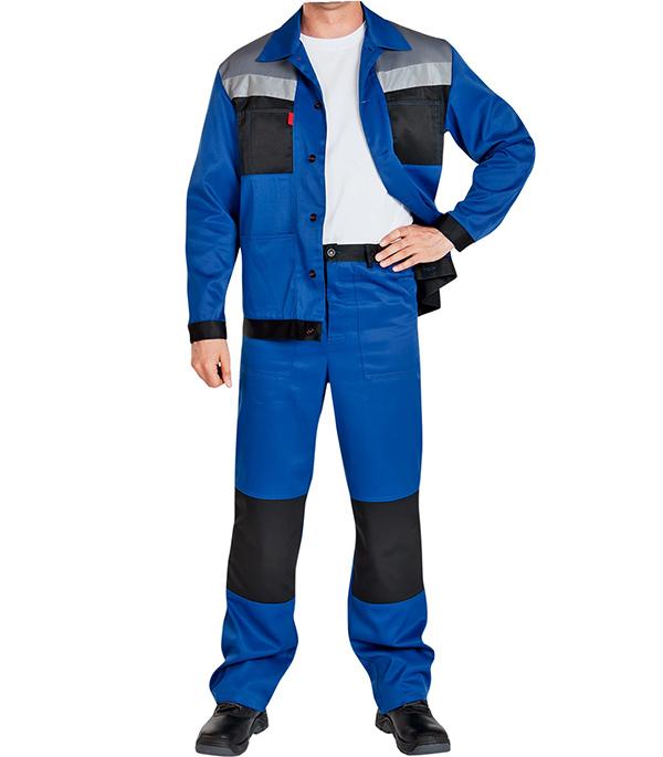 Фото - Костюм рабочий Сектор 48-50 рост 182-188 см цвет синий брюки мужские oodji lab цвет темно синий 2l100082m 44215n 7900n размер 42 182 50 182