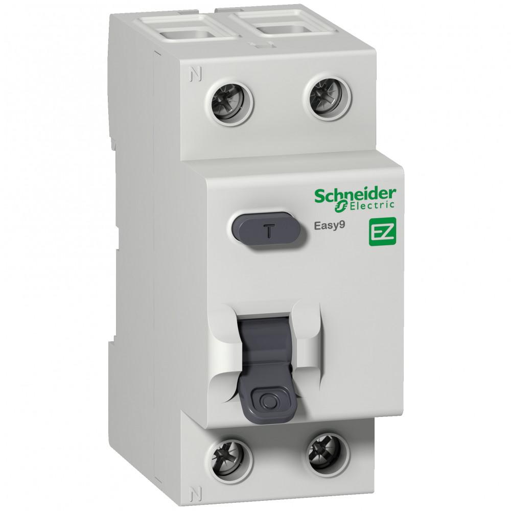УЗО Schneider Electric Easy9 (EZ9R14225) 25 А 10 мА 2P тип AC 4,5 кА узо schneider electric dekraft 2p 25а 30ма тип ac 6ка 14054dek