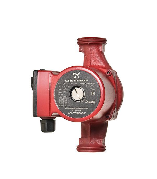 Циркуляционный насос Grundfos UPS 25-60 для систем отопления с гайками 6601 ebv
