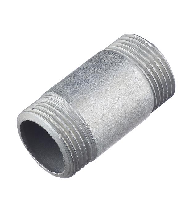 Бочонок 1 нар(ш) х 1 нар(ш) стальной оцинкованный врезка оцинкованная для круглых стальных воздуховодов d125х100 мм