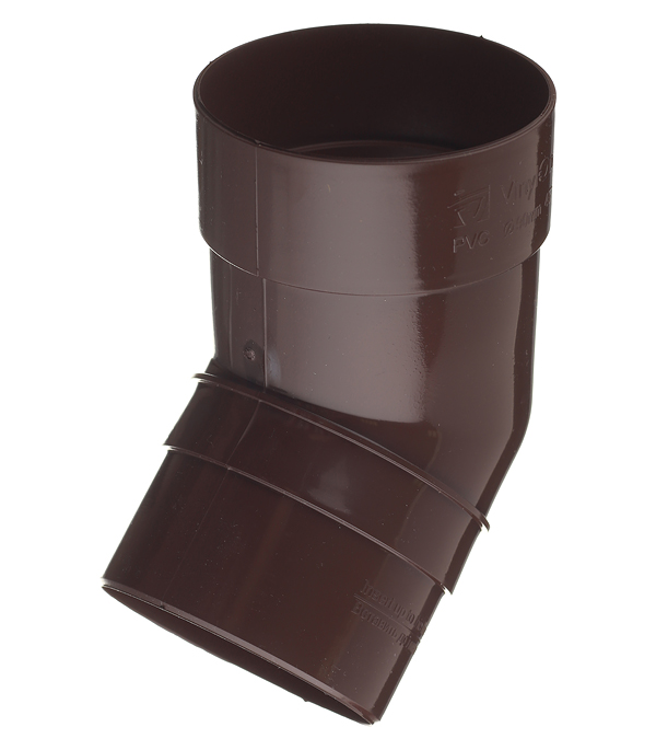 все цены на Колено трубы пластиковое Vinyl-On d90 мм 45° коричневое (кофе) онлайн