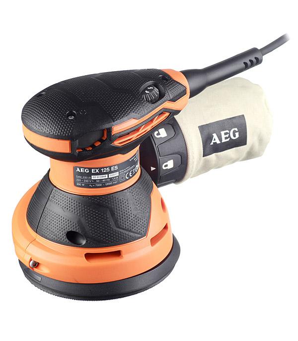 Шлифмашина эксцентриковая AEG EX 125 ES 300 Вт 125 мм шлифмашина эксцентриковая ex 150 es 440 вт 150 мм aeg