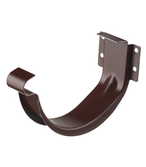 где купить Кронштейн крюк желоба металлический Grand Line 70 мм коричневый по лучшей цене