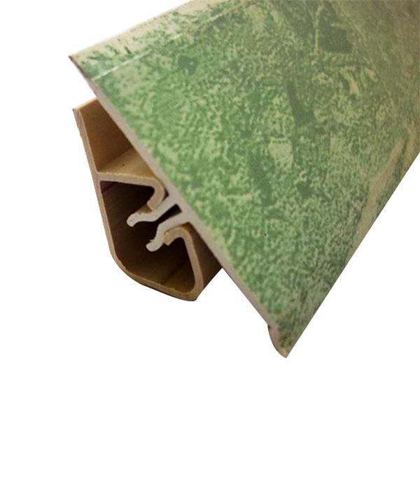 Уголок двухсоставной для кафельной плитки внутренний самоклеящийся 25х25х1800 мм зеленый кимберлит с фурнитурой