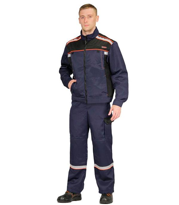Костюм рабочий Практик 52-54 рост 170-176 см цвет синий/черный