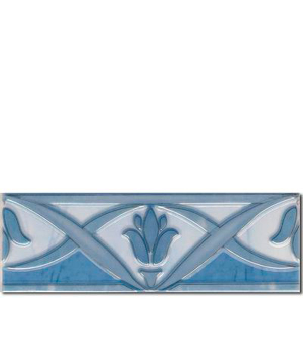Плитка бордюр  Березакерамика Елена 200х70х7 мм синяя