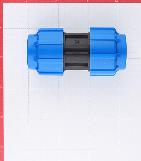 Муфта ПНД ТПК АКВА компрессионная 40х40 мм