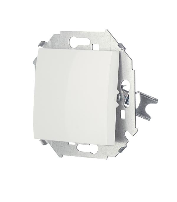 Переключатель без рамки Simon 15 1591201-030 одноклавишный на 2 направления скрытая установка белый фото