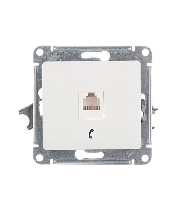 Розетка телефонная Schneider Electric Glossa GSL000181T скрытая установка белый один модуль RJ11 cat 3