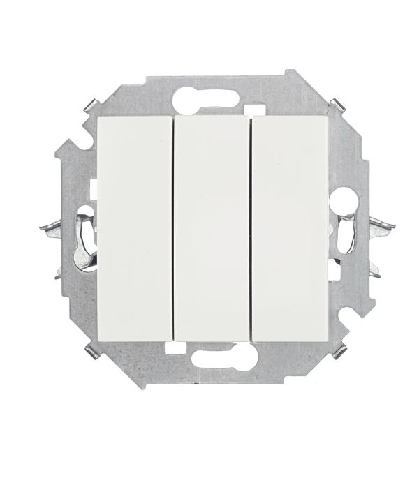 Выключатель Simon 15 1591391-030 трехклавишный скрытая установка белый