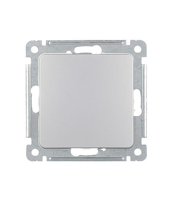 Выключатель HEGEL Master ВС10-411-06 одноклавишный скрытая установка серебро