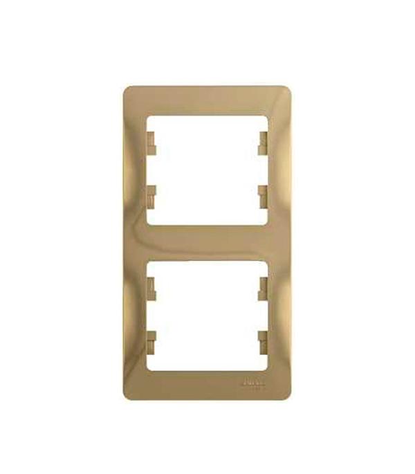 Купить Рамка двухместная вертикальная Schneider Electric Glossa титан