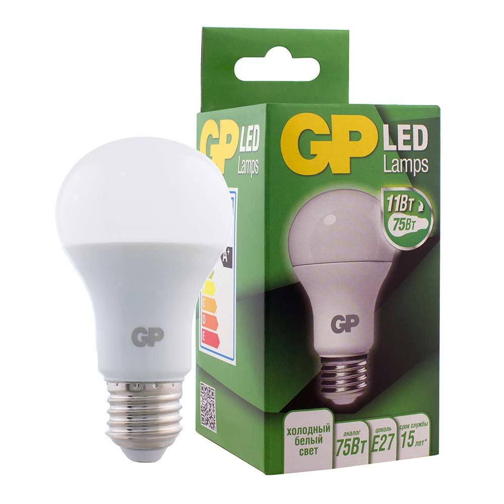 Лампа светодиодная GP 11 Вт Е27 груша