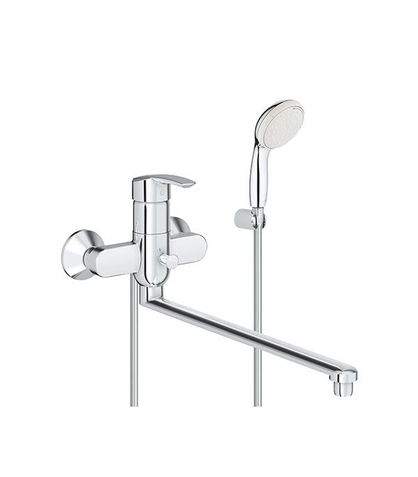 Смеситель для ванной и душа GROHE MULTIFORM 3270800A с длинным изливом однорычажный с лейкой душевой трап pestan square 3 150 мм 13000007
