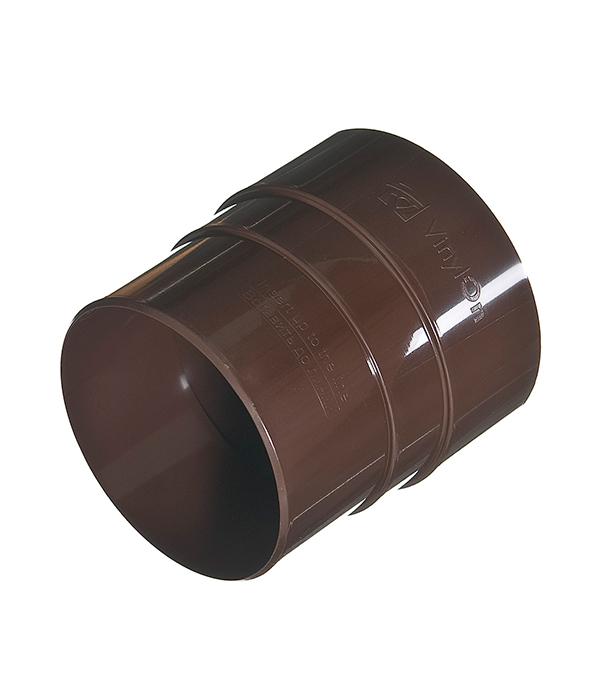 Муфта водосточной трубы соединительная пластиковая Vinyl-On d90 мм коричневая (кофе) муфта для шланга green apple есо соединительная 19 мм 3 4