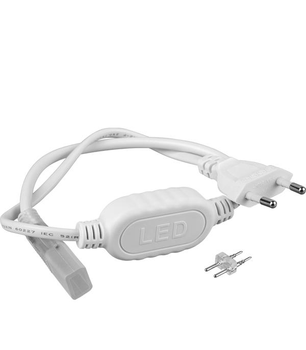 Сетевой шнур для ленты 3528/220 клипса для ленты 3528 220 10шт эра